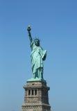 La estatua de la libertad abre de nuevo el Día de la Independencia después de los daños de las reparaciones causados por el huracá Fotografía de archivo libre de regalías