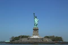 La estatua de la libertad se cerró para la reparación después del daño de Sandy del huracán Fotografía de archivo libre de regalías