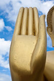 La estatua de la mano de buddha Imágenes de archivo libres de regalías