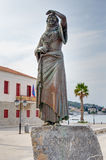 La estatua de Laskarina Bouboulina, isla de Spetses, Grecia Imagen de archivo