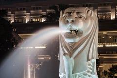 La estatua de Merlion Fotografía de archivo libre de regalías