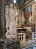 La estatua de San Michele Arcangelo Passignano Foto de archivo libre de regalías