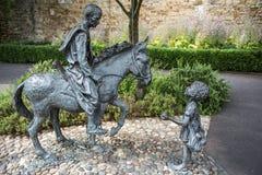 La estatua de Sigeric era el arzobispo de Cantorbery, Somerset, Inglaterra Fotografía de archivo