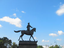 La estatua de Zhukov en Moscú fotografía de archivo libre de regalías