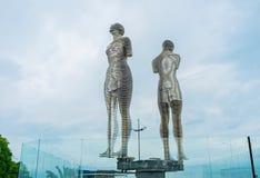 La estatua del amor en Batumi Foto de archivo libre de regalías