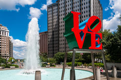 La estatua del amor, Philadelphia Fotografía de archivo