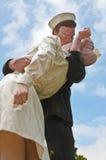La estatua del beso Imagenes de archivo