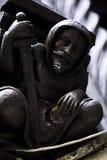 La estatua del caballero en París Foto de archivo