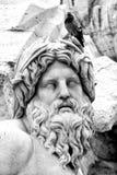 La estatua del Ganges, plaza Navona (Roma, Italia) fotos de archivo