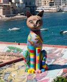 La estatua del gato de Malta Fotografía de archivo libre de regalías