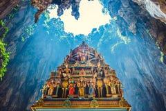 La estatua del Hinduismo del templo en Batu excava en Kuala Lumpur foto de archivo libre de regalías