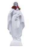 La estatua del muchacho del Virgen María y de Jesús Foto de archivo libre de regalías