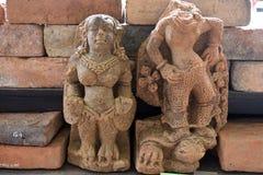 La estatua del reino del majapahit en el museo Trowulan fotos de archivo libres de regalías
