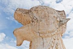 La estatua del singha del estilo de Lanna Fotos de archivo