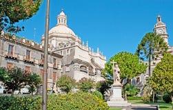 La estatua del St Agatha Imágenes de archivo libres de regalías