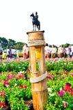 La estatua ecuestre de rey Chulalongkorn Rama V en el Bamb Imagen de archivo libre de regalías