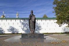 La estatua en la abadía del sergei de Sam, Federación Rusa Fotografía de archivo libre de regalías