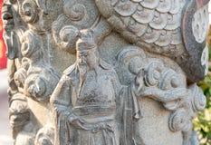 La estatua en Wong Tai Sin Temple también llamó el templo de Sik Sik Yuen Chinese en Hong Kong Imagen de archivo