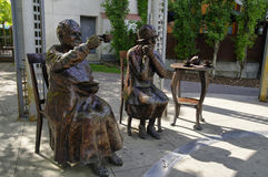 La estatua famosa cinco aka, Calgary, Canadá Imágenes de archivo libres de regalías