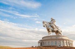 La estatua más grande de Chinghiskhan Foto de archivo