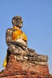 La estatua vieja Buda en Ayutthaya Tailandia Imagen de archivo libre de regalías