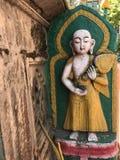 La estatua vieja de buddha Fotografía de archivo