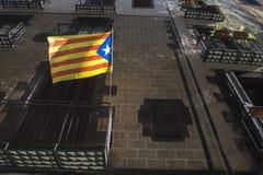 La Estelada flag symbol of independentism. Of Catalonia Royalty Free Stock Photos