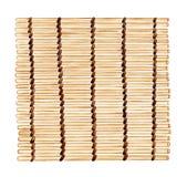 La estera de bambú del sushi, mano de la acuarela painten el ejemplo de madera Foto de archivo libre de regalías