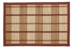 La estera de bambú - puede ser utilizado como fondo Aislado en blanco Foto de archivo libre de regalías
