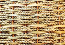 la estera es textura tejida de la cesta de la rota fotografía de archivo libre de regalías
