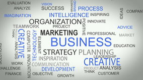 La estrategia empresarial en línea desarrolla palabra de las soluciones libre illustration