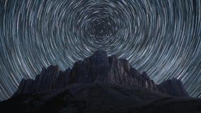 La estrella arrastra time lapse almacen de video