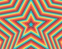 La estrella colorida Imagenes de archivo
