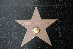 La estrella de Aretha Franklin Foto de archivo