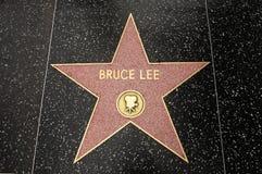 La estrella de Bruce Lee Imagen de archivo libre de regalías