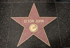 La estrella de Elton Juan fotografía de archivo libre de regalías