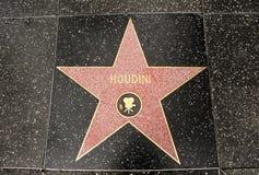 La estrella de Harry Houdini Foto de archivo libre de regalías