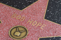 La estrella de Hollywood de Bob Hope Foto de archivo