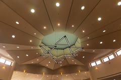 La estrella de la lámpara estilizada de David se hace de seis triángulos: Lámpara de Magen David fotos de archivo libres de regalías