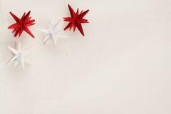 La estrella de la Navidad adorna el fondo Fotos de archivo libres de regalías