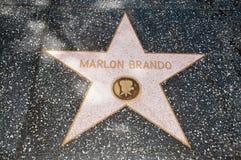 La estrella de Marlon Brando foto de archivo