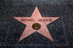 La estrella de Michael Jackson Imágenes de archivo libres de regalías