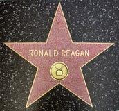 La estrella de presidente Ronald Reagan de los E.E.U.U. Imagenes de archivo