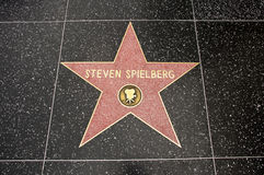 La estrella de Steven Spielberg Foto de archivo libre de regalías