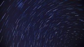 La estrella del cielo arrastra Timelapse almacen de video