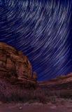 Noche estrellada en Canyon Road largo Foto de archivo libre de regalías