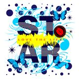 La estrella del lema de la camisa, ama la vida libre illustration