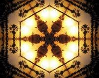 La estrella echada a un lado del extracto 6 sacó ejemplo de la mandala 3D Foto de archivo