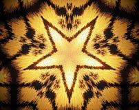 La estrella echada a un lado del extracto 5 sacó ejemplo de la mandala 3D Imagen de archivo