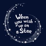 La estrella estalló el espacio, cuando usted desea para arriba en una estrella Ilustración del vector libre illustration